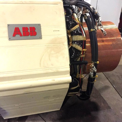 Overhauling two abb direct current 1mw extruder motors for Electric motor shop near me