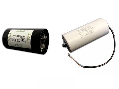 Single phase motor start run capacitors jj loughran for Capacitors for electric motors